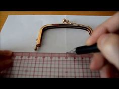 How to draw patterns for frame/clasp purses - YouTube