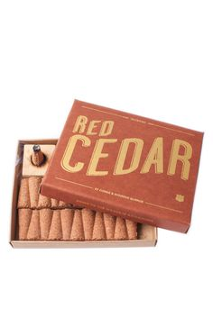 Red Cedar Incense - I bet this smells so good, especially during the holidays. | a box of 32 and wooden burner - $15 from Bridge and Burn #holidays #scent #spon