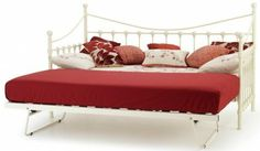 The #Marseilles #Ivory Gloss Single Day Bed & Guest Bed from #Serene…