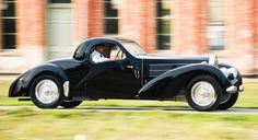 The Bugatti was raced in SCCA events after World War II