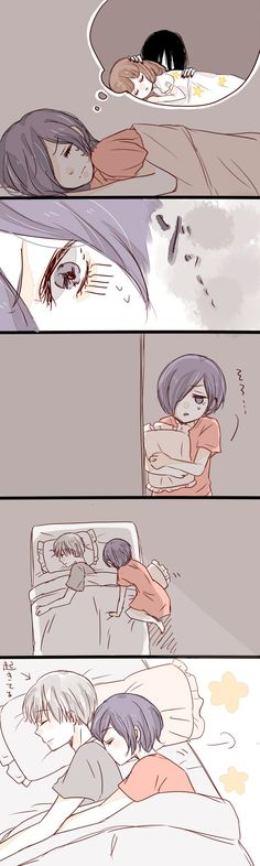 Touka sleeping with kaneki