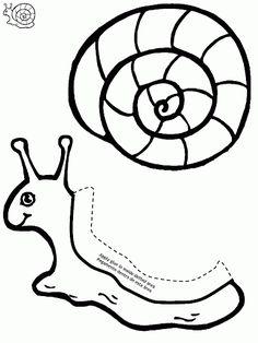 Manualidadesconmishijas. Molde de caracol. Kids craft. Snail. Template