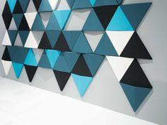 Revestimiento de parede 3D modular para exterior BITS WALL by Abstracta | design Anya Sebton