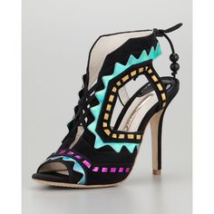 Women's Riko Holographic Lace-Up Sandal - Sophia Webster found on Polyvore
