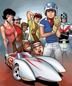 Speed Racer- How I LOVED this cartoon as a kid!! Still do!!.