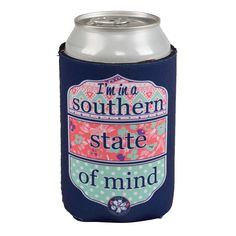"""""""I'm in a Southern State of Mind"""" reversible koozie  