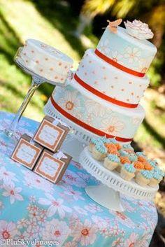 Orange & Aqua Birthday Party