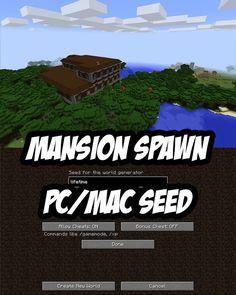 Rare Woodland Mansion Spawn PC/Mac. Seed:lifetime