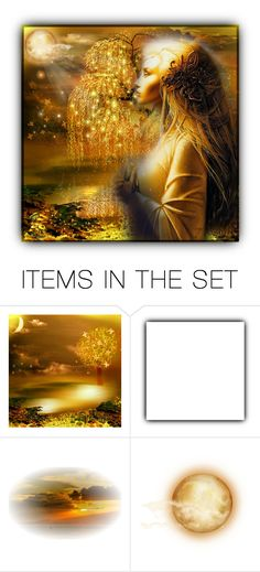 """""""Gold"""" by craftygeminicreation ❤ liked on Polyvore featuring art, gold, fantasy and expression"""