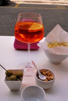 Spritz, downtown Vicenza, Italy. My very favorite thing to do in Italy. I will return!