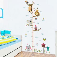 Cheap sticker for kids room, Buy Quality wall stickers for kids directly from China wall sticker Suppliers: % Jungle Animals Lion Monkey Owl Height Measure Wall Sticker For Kids Rooms Growth Chart Nursery Room Decor Wall Decals Art