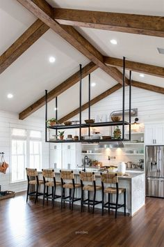 25 Best Fixer Upper Farmhouse kitchen Design Best Fixer Upper Farmhouse kitchen Design Ideas kitchen Lift Your Place With New Kitchen Decoration Your kitchen. New Kitchen, Kitchen Dining, Kitchen Decor, Kitchen White, Kitchen Shelves, Kitchen Modern, Kitchen Colors, Kitchen Cabinets, Kitchen Wood