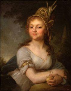 1796 - Rococo - Portrait of E. N. Arsenyeva - Vladimir Borovikovsky