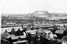Woolloomooloo and bridge - Sydney 1932