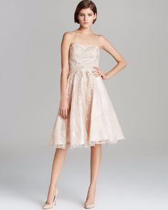 da4fcb0d3cbe8 $498 Sue Wong Blush Pink Sequin Beaded Embroidered Lace Tea Dress 4 6 8 NWT  S274