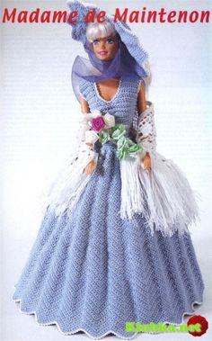 Blue dress for Barbie