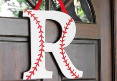Baseball Monogram Wreath | CraftCuts.com