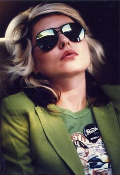 Deborah Harry. 80's Icon. My childhood role model. We share a birthday. :)