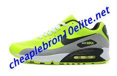 Electric Yellow Black Nike Air Max 90 Mens Neutral Grey 333888 301 Yellow Black, Dark Blue, Air Max Sneakers, Sneakers Nike, Nike Air Max Mens, Grey Nikes, Air Max 90, Neutral, Electric