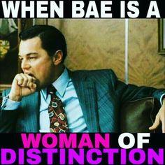 When Bae is a woman of distinction. Sigma Lambda Gamma.