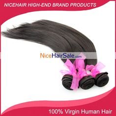 NiceHairSale 100% Virgin No Shedding 3 Bundles Human Brazilian Straight Remy Hair Weave Products Dyeable Best Quality #NiceHairSale #VirginHair #HumanHair #RemyHair #StraightHair #BrazilianHair