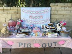 "32 Likes, 5 Comments - Lilacs&Charcoal MelissaGoyette (@lilacsandcharcoal) on Instagram: ""Click Oink Moo Emma is Two! Pink Farm Birthday Party. Pink Farm Party"