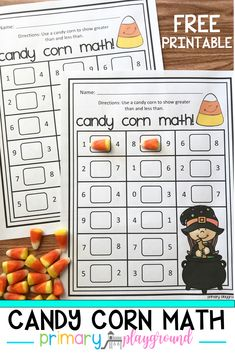 Practice greater and less than with candy corn! #candycorn #candycornmath