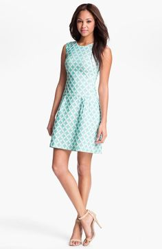 Phoebe Couture Jacquard Drop Waist Dress available at Nordstrom