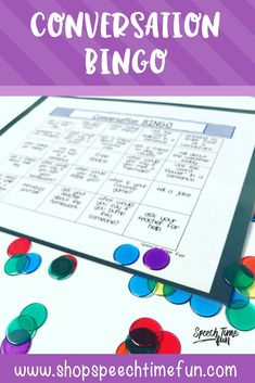 Conversation BINGO - a fun and interactive way to work on social skills in speech therapy