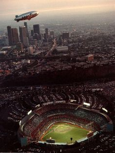 Goodyear Blimp over Dodger Stadium. Get all the best travel & ticket deals guaranteed @ http://losangeles.buzz