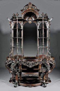 Gothic Victorian Hutch #antiquefurniture