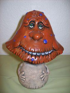 Ceramic+Funny+Face+Mushroom+For+Your+Gnome+Garden+by+Cinstreasures,+$18.95
