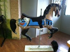 Decorative large carousel horse