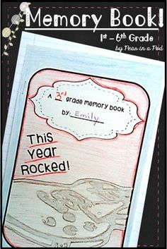 End of Year Memory Book Teaching 5th Grade, 5th Grade Classroom, Classroom Crafts, Teaching Kindergarten, Classroom Ideas, End Of School Year, End Of Year, Fourth Grade, Third Grade