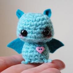 Mini Amigurumi Blue Bat