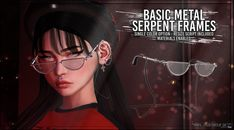Basic Metal Serpent Frames April 2018 Group Gift by Asteroidbox - Second Life Freebies Sims 4 Mods Clothes, Sims 4 Clothing, Sims Mods, Sims 4 Cas, My Sims, Sims Cc, Sims 4 Piercings, Sims 4 Teen, Sims 4 Cc Shoes