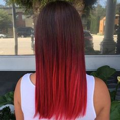 red ombre hair color