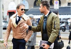 Tommy Ton's Street Style: Milan Fall 2013 - wicked cool on the left
