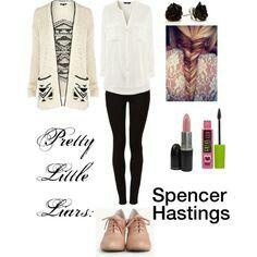 """Pretty little liars: Spencer Hastings"" Pretty Little Liars Spencer, Pretty Little Liars Outfits, Pretty Litle Liars, Pretty Outfits, Estilo Preppy, Outfits Otoño, Fandom Outfits, School Outfits, Fashion Idol"