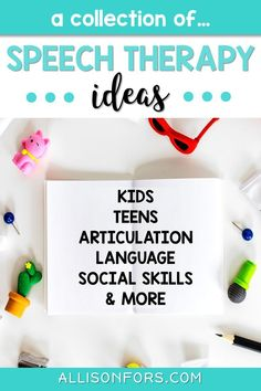 Speech therapy ideas for preschoolers, toddlers, kids, and teens. Find inspiration to target articulation, language, and social skills! #speechtherapy #slpeeps #freespeechtherapy