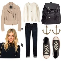 2851 by gabii-n-n on Polyvore featuring moda, American Vintage, Belstaff, Abercrombie & Fitch, Converse, H&M, Minor Obsessions and Topshop