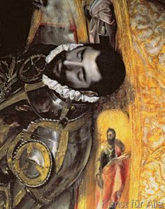 El+Greco+-+Detail+of+The+Burial+of+Count+Orgaz,+from+a+legend+of+1323,+detail+of+the+count,+1586-88