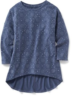 Relaxed Hi-Lo Tee for Girls | Old Navy