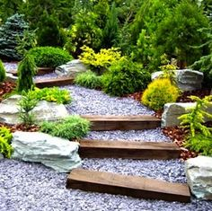 Love the colors, materials and evergreens. The Right Path: 10 Wonderful Walkway Designs