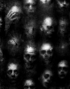 """End Credits - Erlend Mørk - Dark Symbolist Photography """"Do you ever see the faces of the people you've killed? Creepy Images, Creepy Art, Creepy Paintings, Scary Photos, Creepy Eyes, Scary Faces, Creepy Pictures, Arte Horror, Horror Art"""