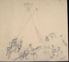 Charles Murphy, Cheyenne drawing, 1903. Charles Murphy, Native Drawings, Native American Drawing, Plains Indians, Book Drawing, Native Art, First Nations, American Indians, Nativity