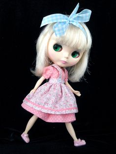 Dress, Pinafore, for Blythe. by TheDollsDresser