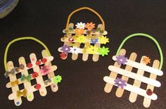 Bust boredom with these fun popsicle stick crafts for kids of all ages. Popsicle sticks are also known as craft sticks if you don't want to have to wash off the stick popsicle residue. Preschool Crafts, Easter Crafts, Holiday Crafts, Popsicle Stick Crafts, Craft Stick Crafts, Popsicle Sticks, Craft Sticks, Craft Ideas, Craft Paint