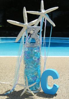 Project Nursery - Mermaid Under the Sea Birthday Party -  Starfish Wands - centerpieces