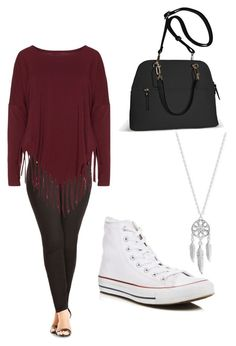 """""""Untitled #18"""" by molly-grace-lindsey ❤ liked on Polyvore featuring City Chic, Boris, Avenue, Lucky Brand and Converse"""